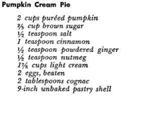 Pumpkin Recipe Cream Pie
