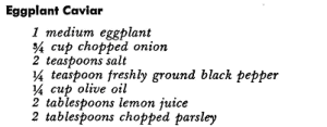 Eggplant Caviar Ingredients