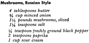 Recipe For Mushrooms Russian Style