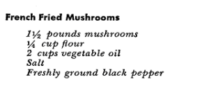Vegetable Appetizer Recipe for French Fried Mushrooms