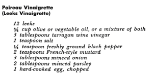 Leeks Vinaigrette Vegetable Appetizer Recipes