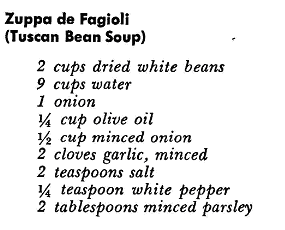 Soup Recipes Tuscan Bean Soup