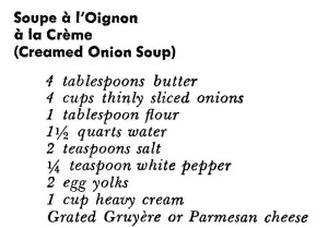 Cream of Onion Soup Recipe Ingredients