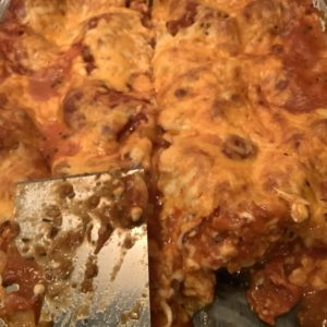 Vegetarian Lasagna Recipe; a finished piece