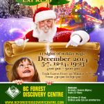 Decorating for BC Forest Discovery Centre's Christmas Express