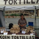 Fresly made corn toritillas at Duncan Farmer Market