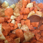 Adding tex mex spice to the roast vegetables