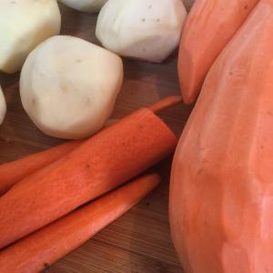 Roast Vegetables; Yams, Carrots, Potatoes