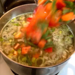 Add Vegetables to Soup