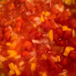 Simmering sauce for vegetarian lasagna recipe