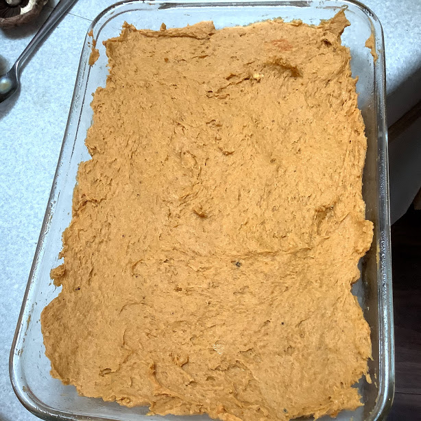 Pumpkin Spice Cake Recipe Batter is Done Ready to Bake Now