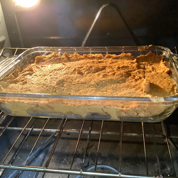 Pumpkin Spice Cake Recipe Baking in the Oven