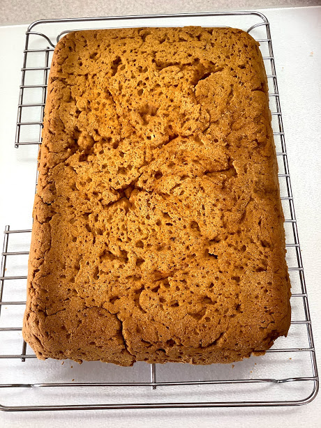 Pumpkin Spice Cake Recipe Blog Post Finished Cake