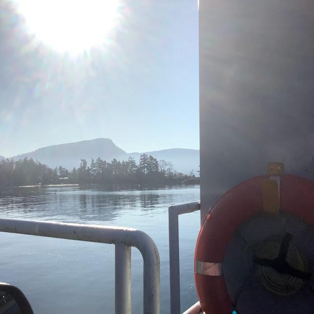 Ferry Pulling into Salt Spring Island BC