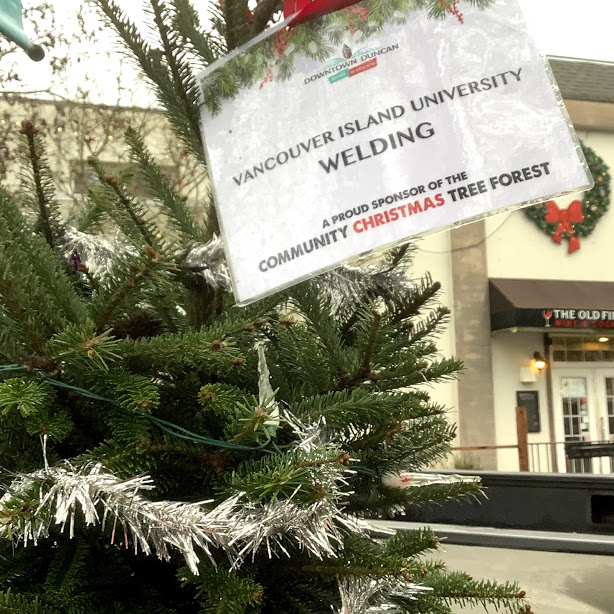Cowichan Valley Christmas Tree Forest Sponsors Downtown Duncan BC December 2019